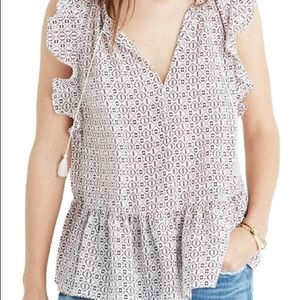 Madewell Lilly Ruffle Blouse